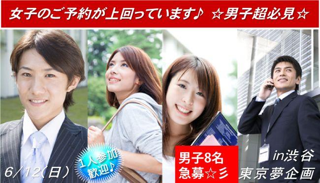 【渋谷の婚活パーティー・お見合いパーティー】東京夢企画主催 2016年6月12日