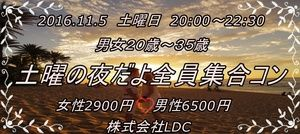 【鹿児島のプチ街コン】株式会社LDC主催 2016年11月5日