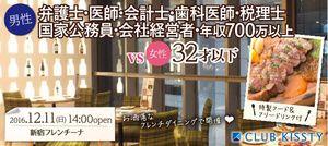 【新宿の恋活パーティー】クラブキスティ―主催 2016年12月11日