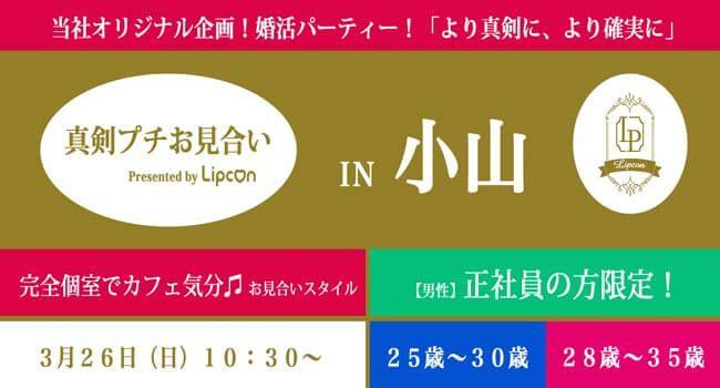 【3月26日(日)プチ】姉コン!男25〜30女28〜35!1年以内の結婚を前提の婚活パーティーin小山!