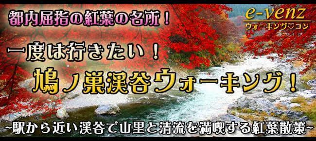 12月9日(土) 秋がまだ残ってるかも? 都心から1時間ちょっとで行く、鳩ノ巣渓谷紅葉ウォーキングコン!!