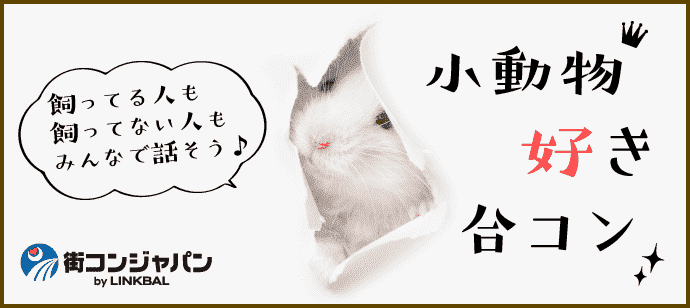 小動物好き合コンin京都☆男性23~36歳×女性20~34歳☆11月30日(木)