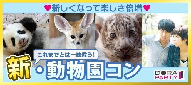 6/2(土)東武動物園☆20~32歳限定!可愛い生き物に囲まれながら出会える動物園デート×MISSIONコン