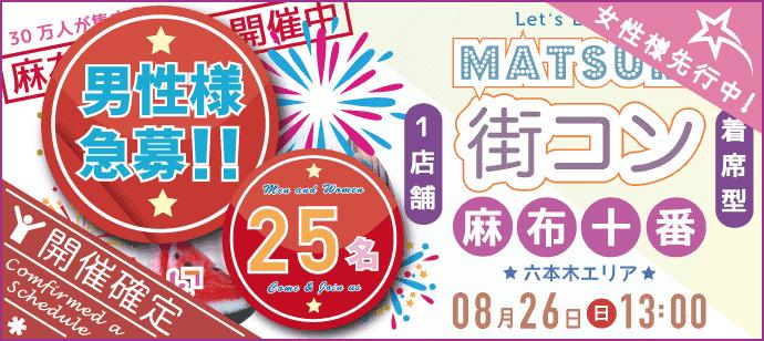 【東京都六本木の恋活パーティー】パーティーズブック主催 2018年8月26日