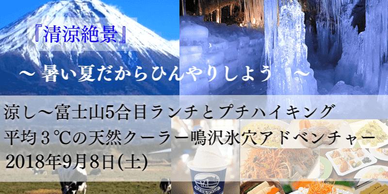 東京発!涼し~富士山5合目ウォーキングと天然クーラー鳴沢氷穴アドベンチャー【婚活バスツアー】