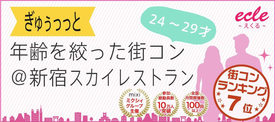 【新宿の街コン】えくる主催 2015年7月12日