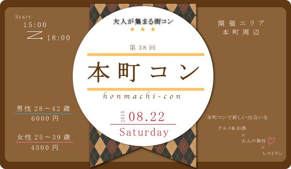 【大阪府その他の街コン】西岡 和輝主催 2015年8月22日
