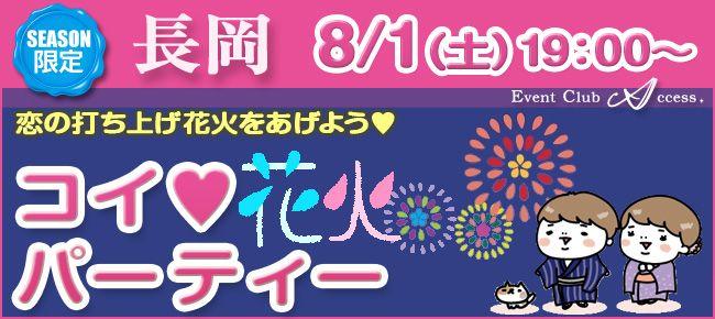 【新潟県その他の恋活パーティー】株式会社アクセス・ネットワーク主催 2015年8月1日