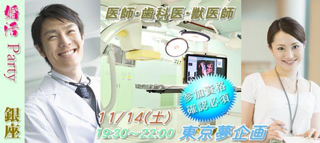 【銀座の婚活パーティー・お見合いパーティー】東京夢企画主催 2015年11月14日
