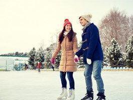 スケート風景 | 爽快冬の定番スポーツ!アイススケート