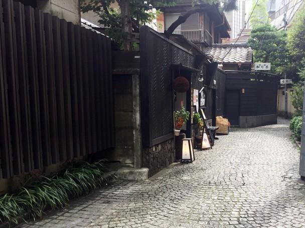 石畳の横丁
