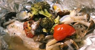 秋鮭とキノコのホイル包み焼き