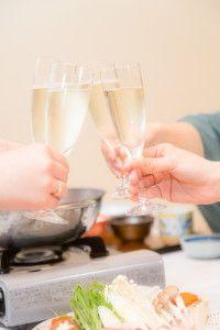 鍋料理と乾杯