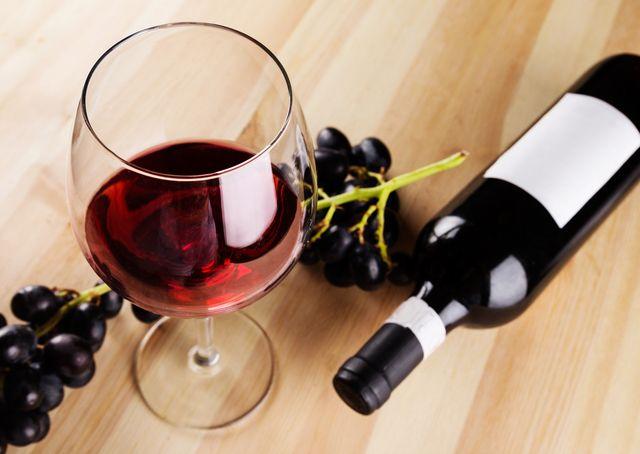 赤ワイングラス&ボトル