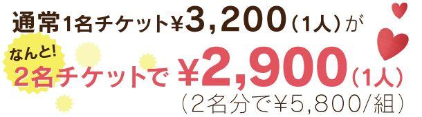 3,200円⇒2,900円