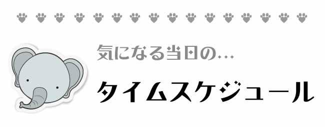 タイムスケジュール【ペット】