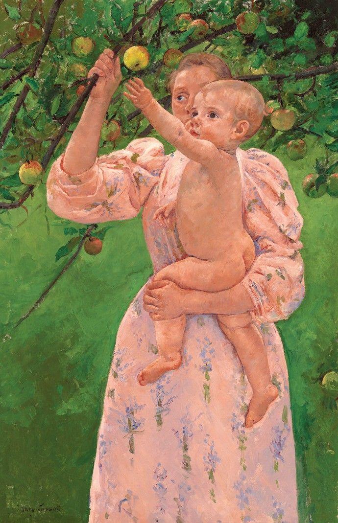 ③果実を採ろうとする子供