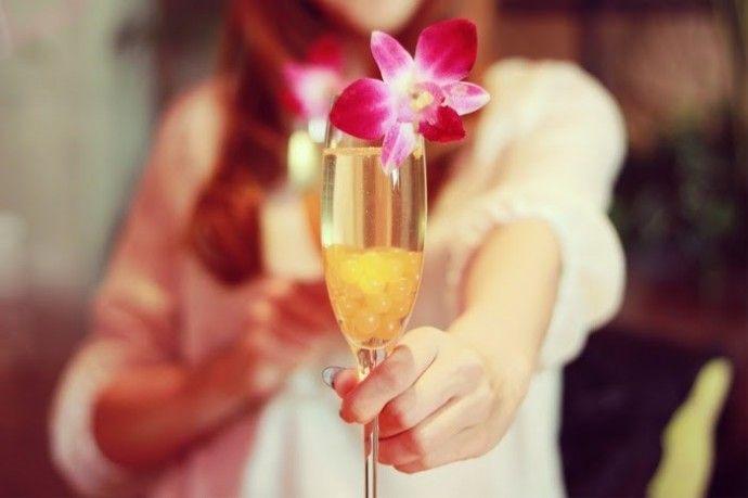 花 シャンパン