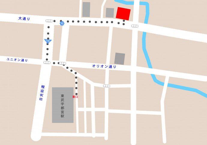宇都宮地図